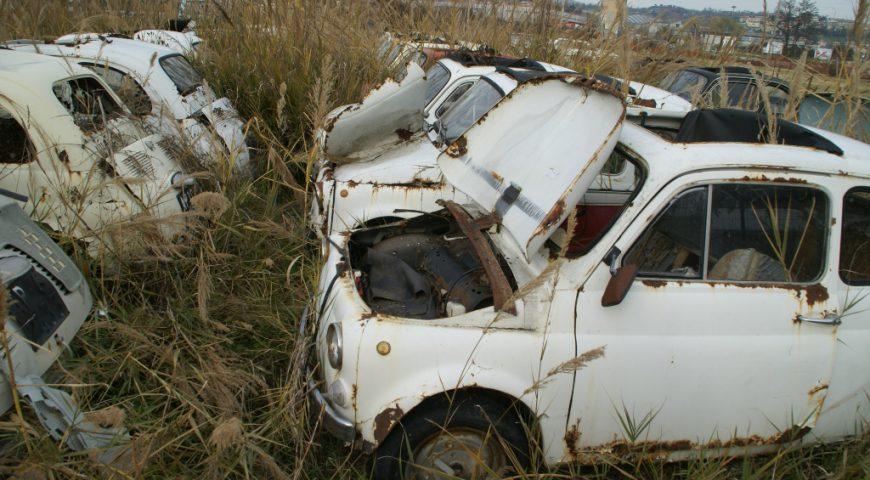 Fiat 500 Friedhof