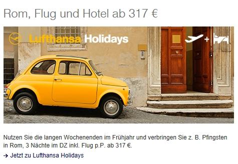 Fiat 500-Lufthansa-Werbung 2015 | Foto: Screenshot lufthansa.de