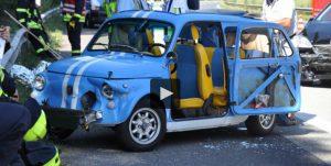 Fiat 500 Giardiniera Unfall