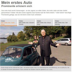 Mein erstes Auto - Screenshot der ZDF-Website