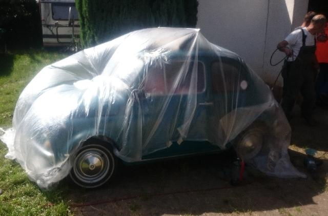Fiat 500 Sandstrahlen