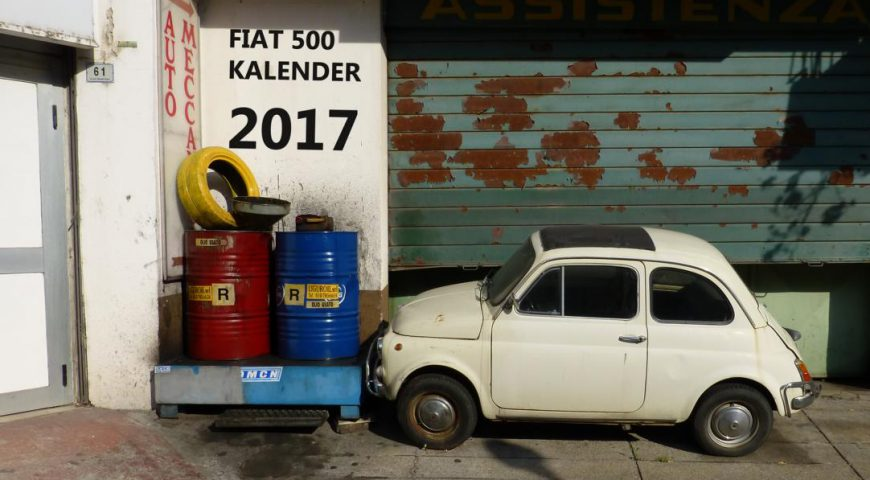 Titel Fiat 500 Kalender 2017