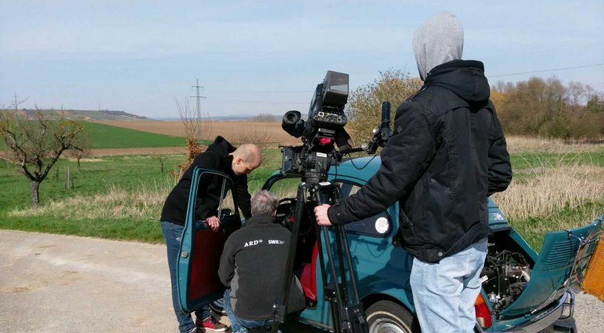Fiat 500 Dreh für SWR Landesschau